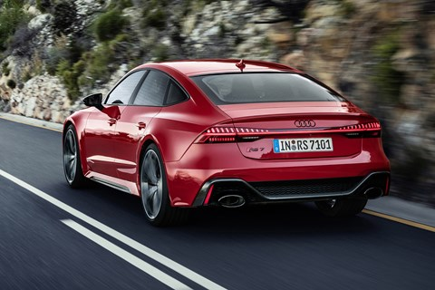 Audi RS7 Sportback - rear view, driving on road