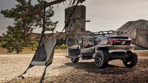 2019 Audi AI Trail, hammock chair