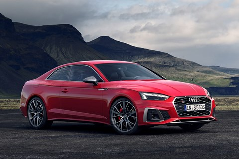 2019 Audi A5 facelift, Coupe, front three quarter