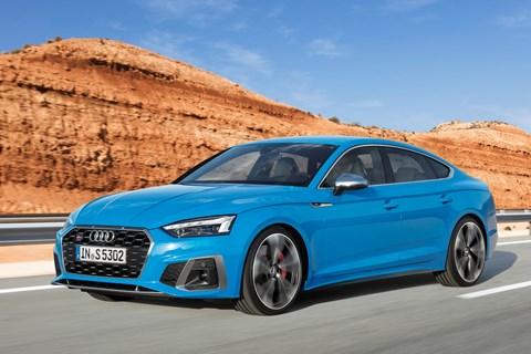 2019 Audi A5 facelift, S5 Sportback, blue, front dynamic
