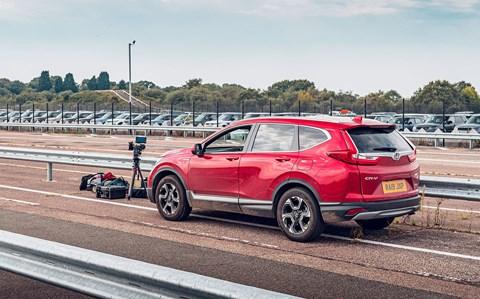 CR-V hybrid roadside