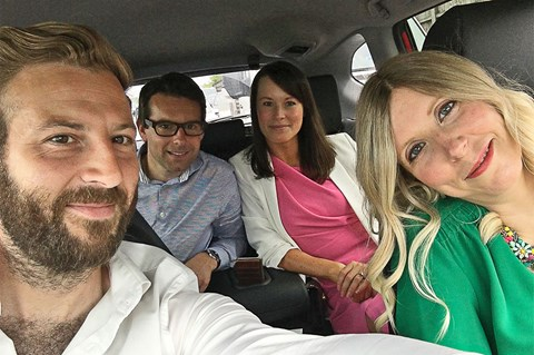 Alex Tapley and friends/family on board the Honda CR-V Hybrid