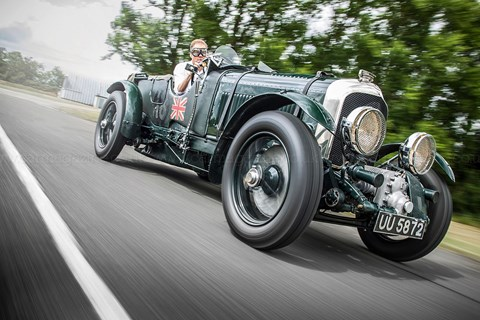 Gavin Green in a Bentley Blower