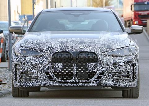New spyshots emerge showing regular BMW 4-series grille: supersized!