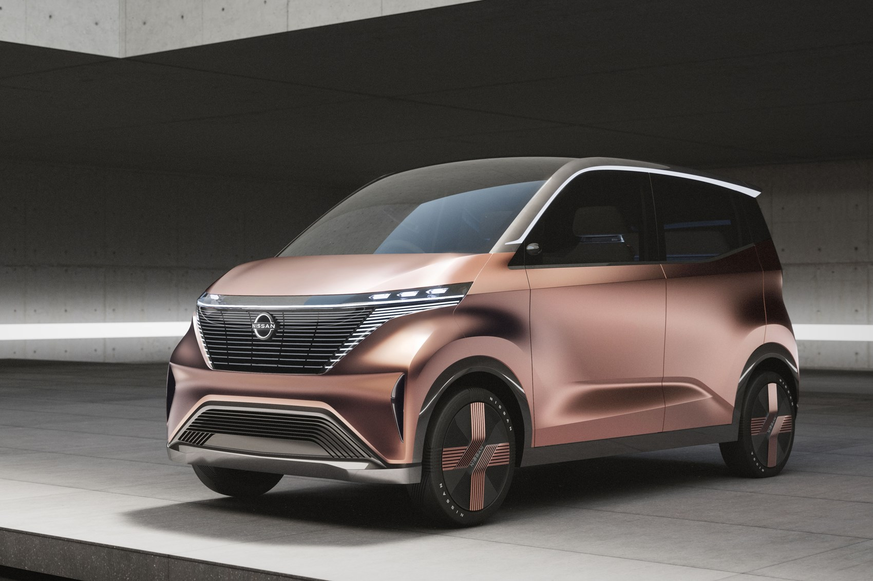 Nissan showed a concept electric minivan
