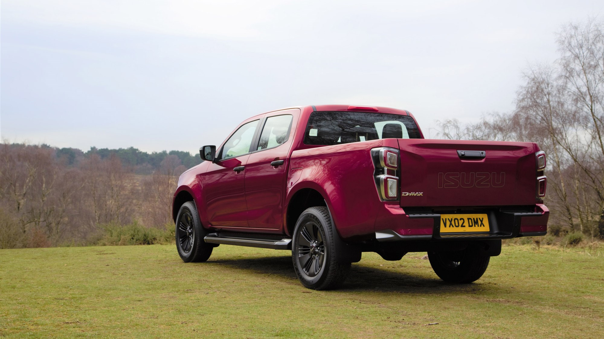 Isuzu D-Max review 2021, rear view, red