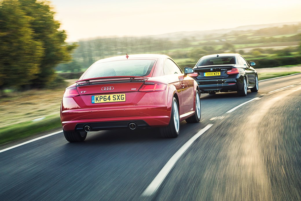 Audi Tt Vs Bmw 2 Series Twin Test Review 2015 Car Magazine
