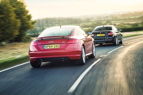 Audi TT vs BMW 2-series Coupe (2015). Shot for CAR magazine by Richard Pardon