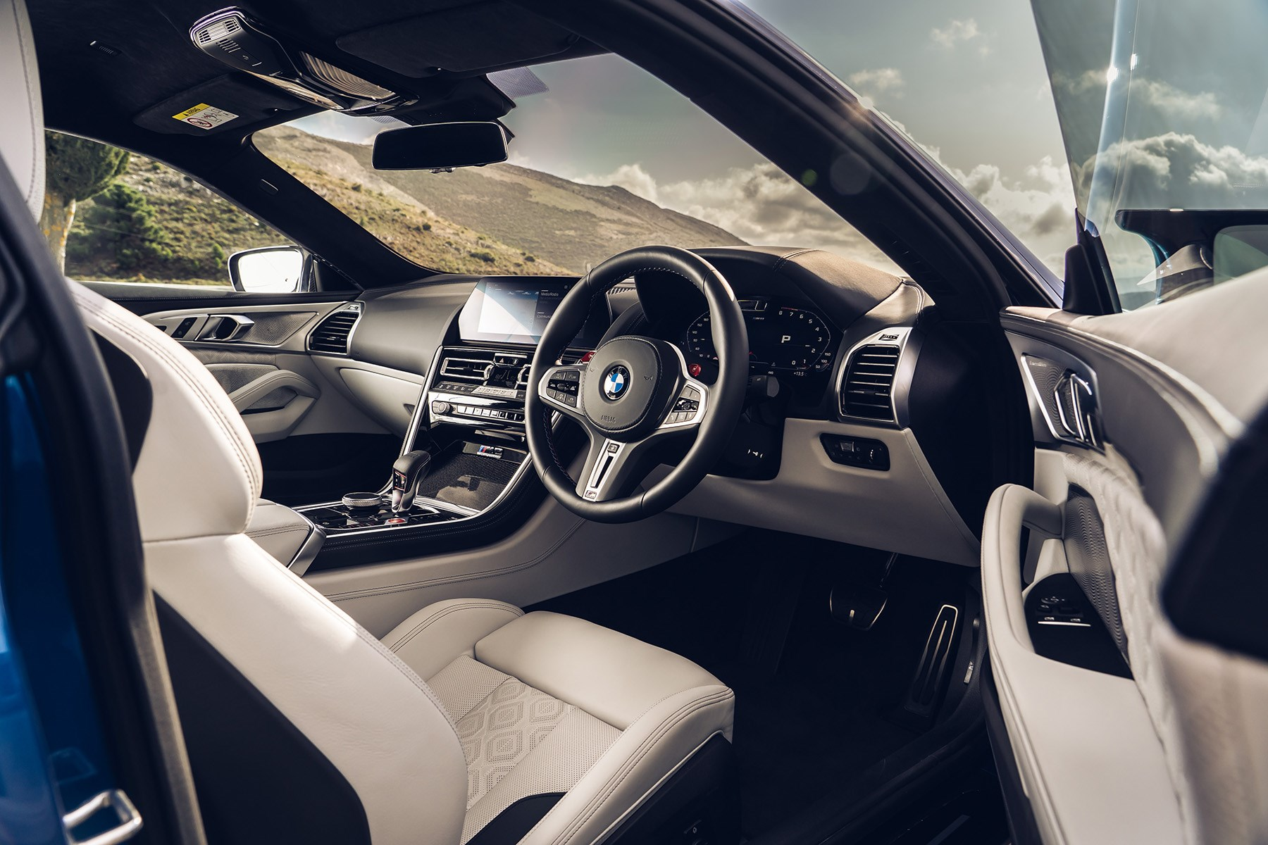 BMW M8 UK interior