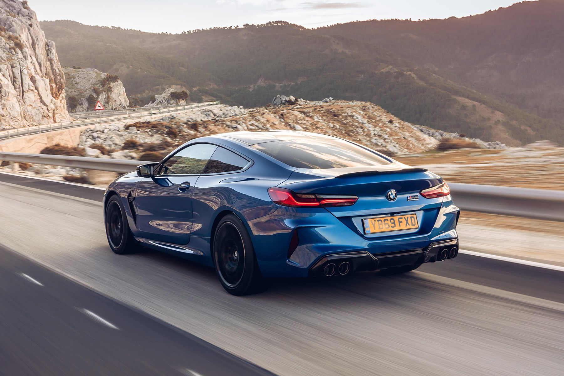 BMW M8 UK rear quarter tracking