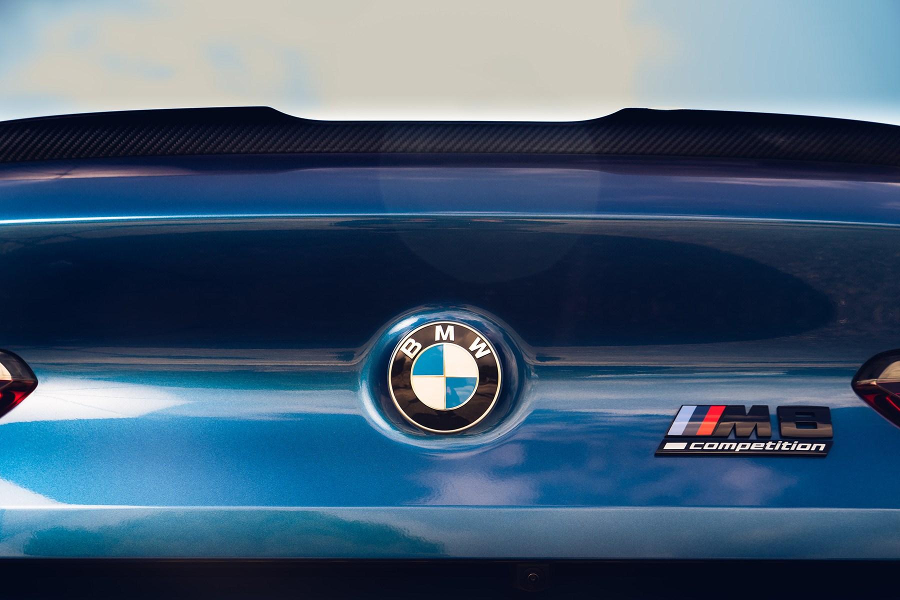 BMW M8 UK tailgate