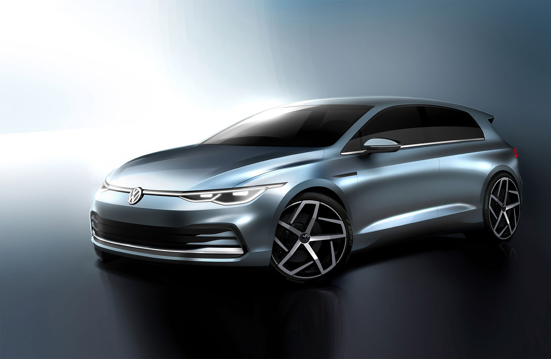 Volkswagen Golf 8: fresh images (including of cabin) released!