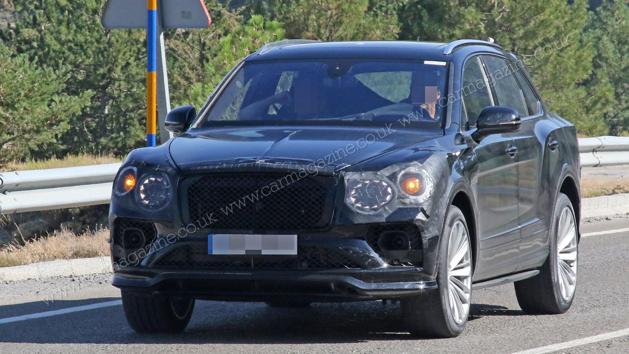 Bentley Bentayga facelift snapped