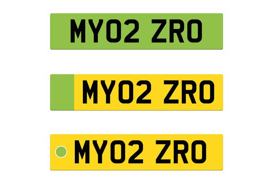 UK government could give EVs green number plates