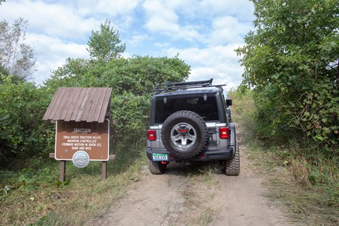 Inside Jeep trail wrangler