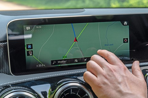 MBUX augmented touchscreen