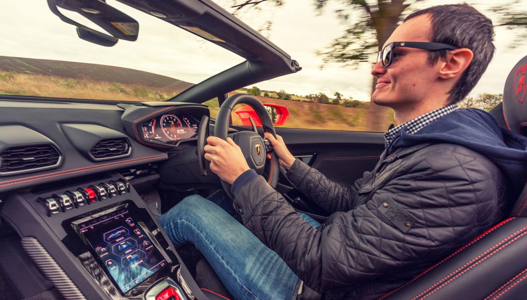 Huracan Spyder jake driving