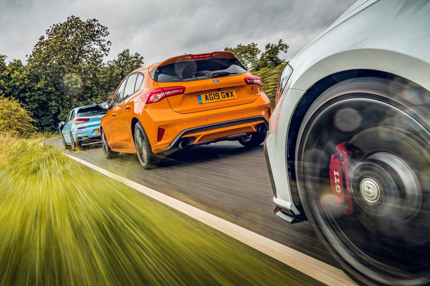Ford Focus ST vs VW Golf GTI TCR vs Hyundai i30N triple test review