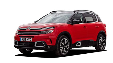 Citroen C5 Aircross red with black roof