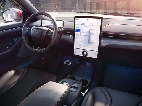 Huge 15.5-inch touchscreen for Ford Mustang Mach-E interior