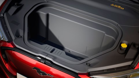 Waterproof front trunk - or frunk - on the new Ford Mustang Mach-E