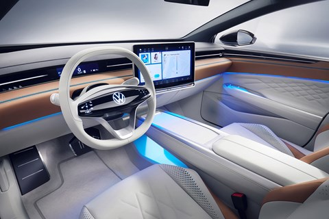 Interior of VW ID Space Vizzion electric estate car