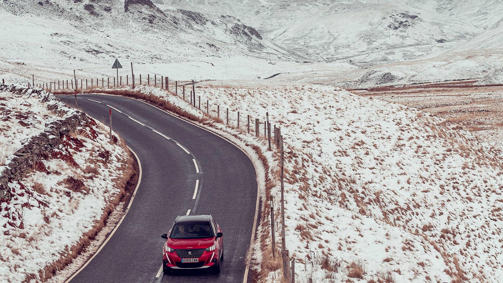 Peugeot 2008 battles Scotland's winter en route to John O'Groats