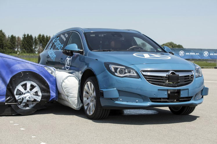 ZF's external airbags could be deployed on the outside of panels to minimise shunts