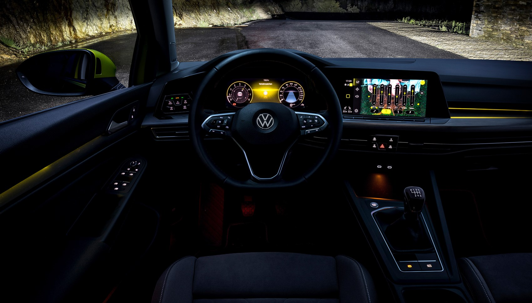 VW Golf interior dark