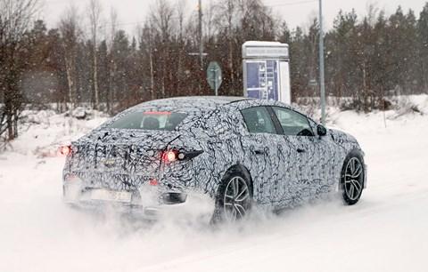 Mercedes-Benz EQS spy photos