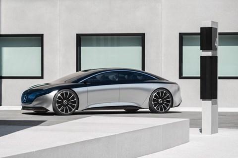 Mercedes-Benz Vision EQS: shown at the 2019 Frankfurt motor show
