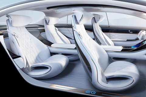 Inside the Mercedes EQS concept interior: a roomy cabin
