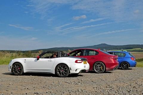 Alfa Romeo, Abarth 124 Spider and BMW M135i European road trip