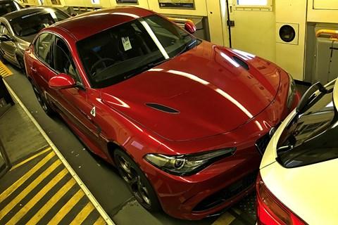 Alfa Romeo Giulia Quadrifoglio 2019 Euro Tunnel