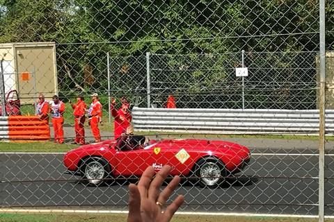 F1 Monza Leclerc parade lap 2019