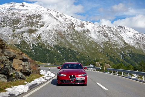 Alfa Romeo Giulia Q Bernina Pass 2019