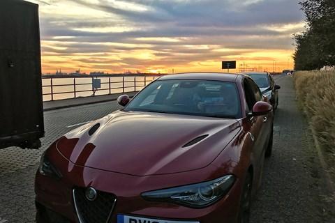 Alfa Romeo Giulia Quadrifoglio Rotterdam ferry