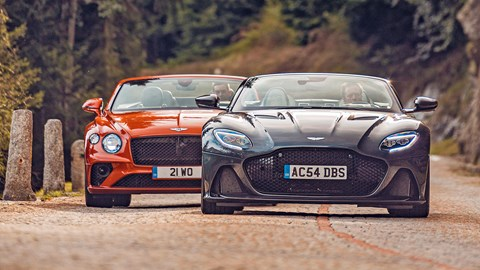 Aston Martin DBS Superleggera Volante meets its nemesis from Crewe: Bentley's Continental GT Convertible