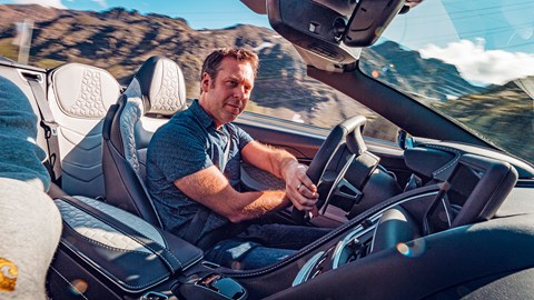 Author Ben Barry drives the Aston Martin DBS Superleggera Volante