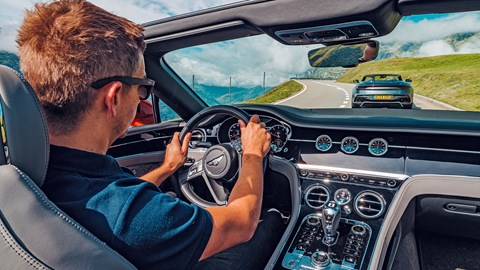 Editor Ben Miller and the Bentley Continental GT interior