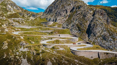 The Gotthard Pass in Switzerland: play space for 12-cylinder Brits