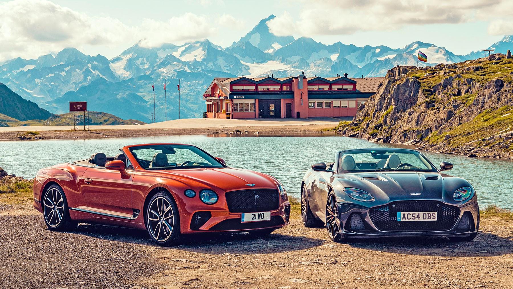 Aston Martin Dbs Superleggera Volante Vs Bentley Continental Gt Convertible Twin Test Car Magazine