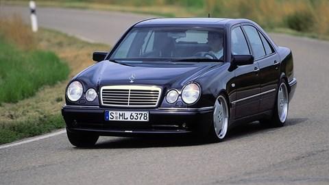 Mercedes-Benz E55 AMG, driving
