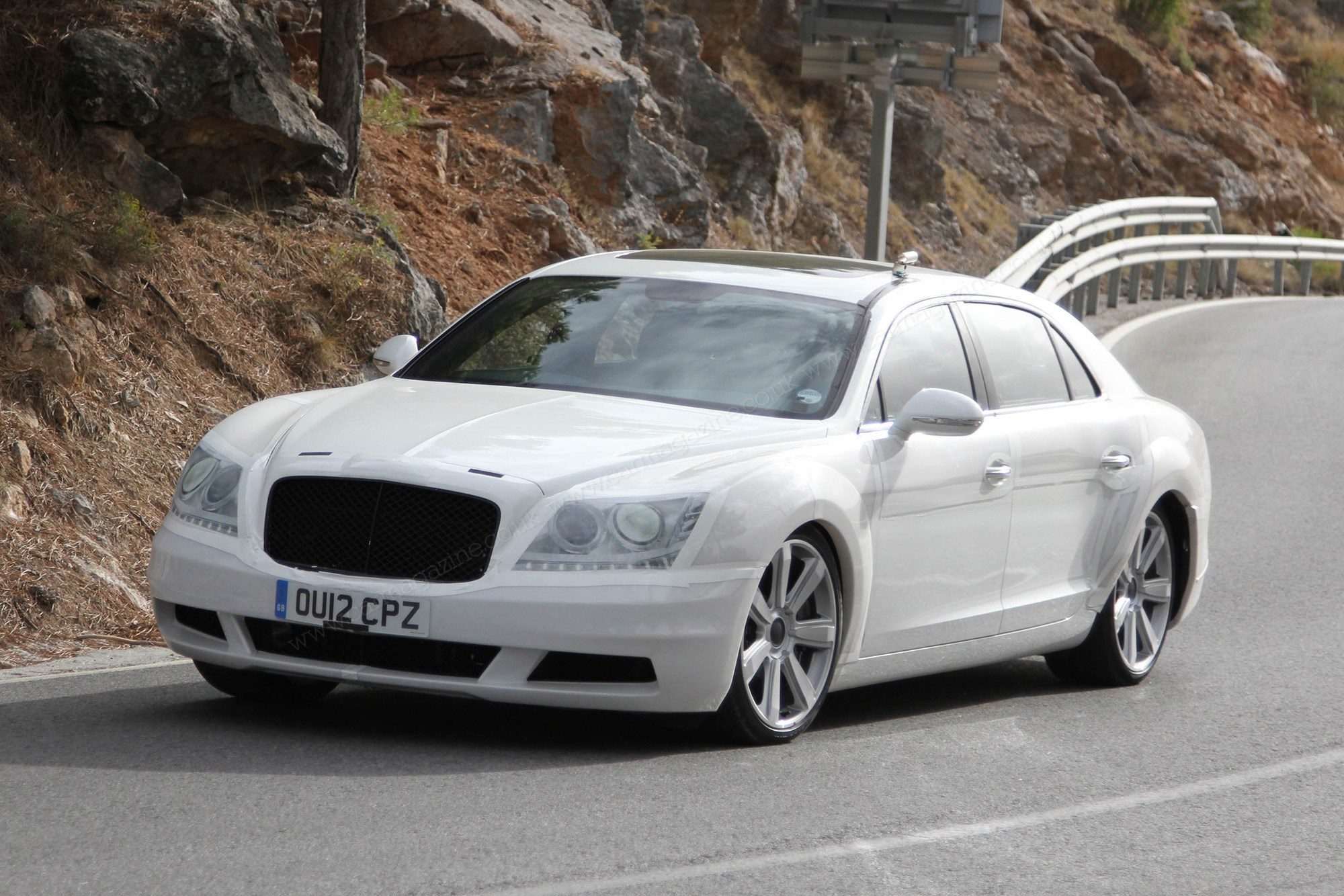 The Art Of Car Disguise Prototype Camouflage Decoded Magazine Click Here For A Photograph Cheekily Bentley Stuck Mercedes Grille On Front This 2012 Flying Spur To Put Spies Off Scent