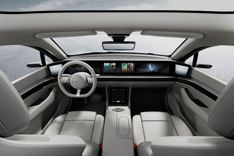 sony vision s interior