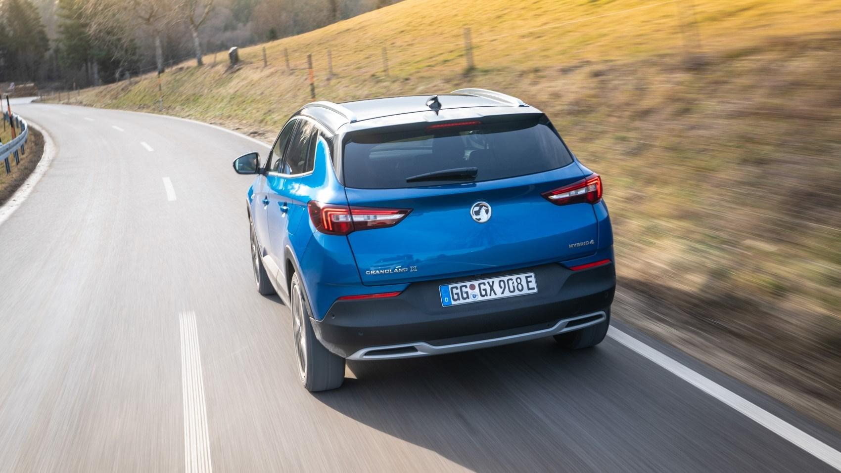 2020 Vauxhall Grandland X Hybrid4, rear dynamic
