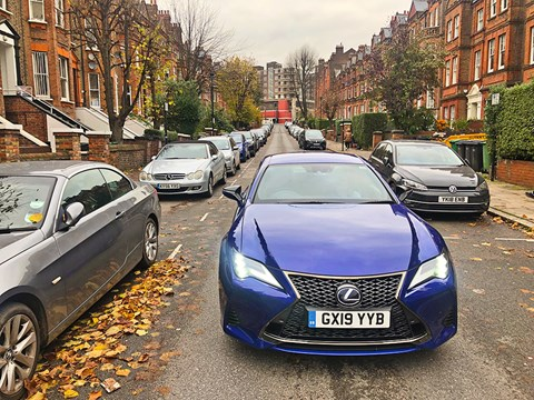 Our Lexus RC in London town