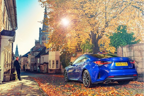 James Taylor and the CAR magazine Lexus RC coupe
