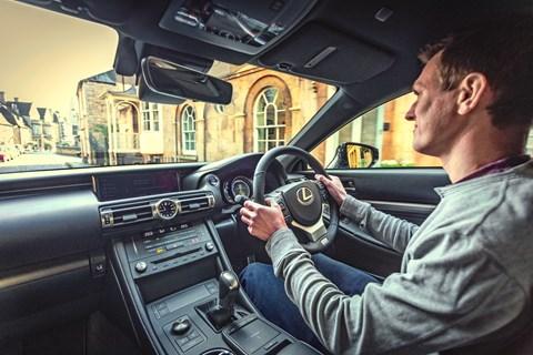 Lexus RC LTT interior