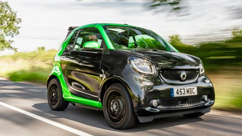 The Smart Fortwo EQ has plenty of interior space for one, plus a passenger, and zero emissions